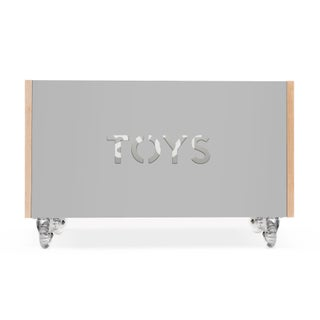 Toy Box Chest on Casters in Birch With Gray Finish Preview
