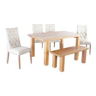 Transitional Marks & Spencer Dining Set- 6 Pieces For Sale