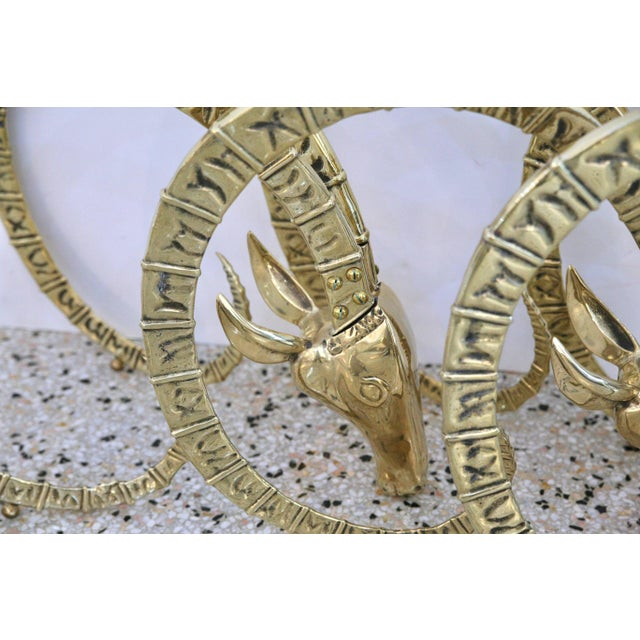 Brass Ibex Figures for Table Base - Set of 3 For Sale - Image 11 of 12