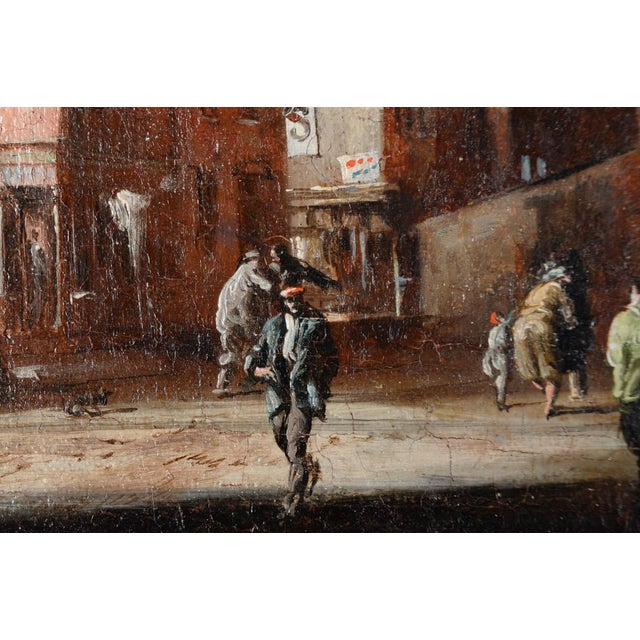 French Impressionist Street Scene Oil Painting - Image 4 of 10