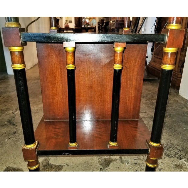 Early 20th Century Empire Style Canterbury Side Table For Sale - Image 5 of 13