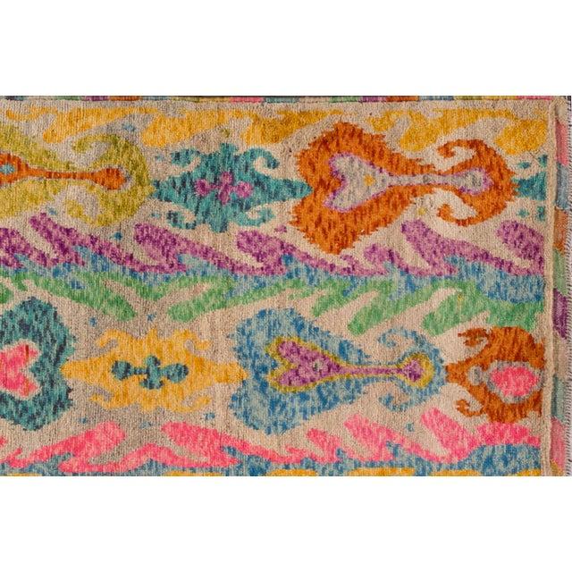 "Apadana - Modern Afghan Gabbeh Rug, 3'5"" x 4'10"" For Sale - Image 4 of 6"