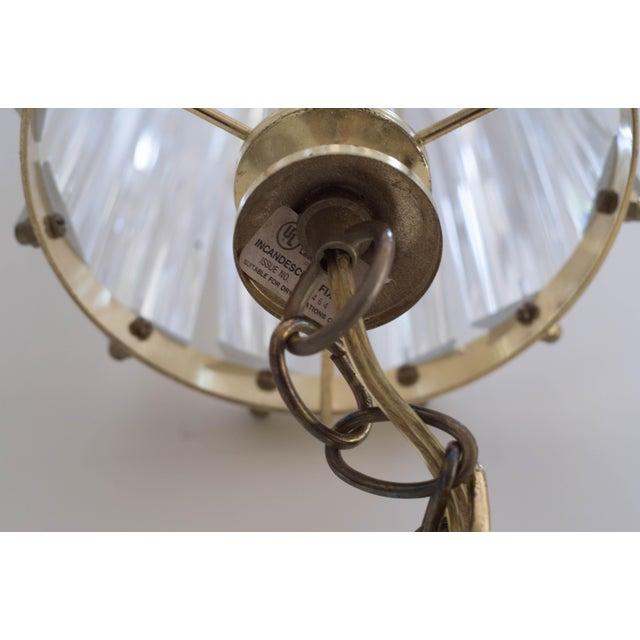 Vintage Glam Regency Lucite Ribbon Chandelier Light - Image 4 of 6