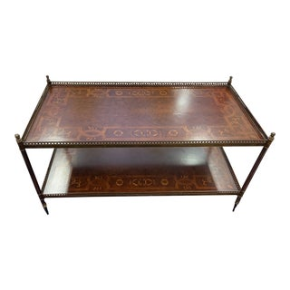 John-Richard European Crossroads Marquetry Coffee Table For Sale