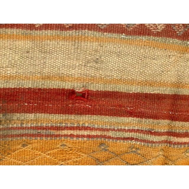 Vintage Moroccan Tribal Kilim Rug, circa 1960 For Sale - Image 11 of 13
