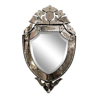 Vintage 1920s Shield Mirror