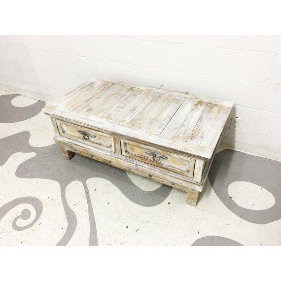 Arts & Crafts Vintage Mexican Pine Coffee Table For Sale - Image 3 of 6