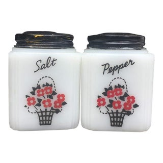 Tipp City Milk Glass Salt & Pepper Shakers - a Pair