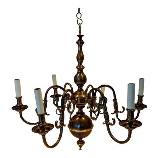 Vaughan Small Dutch Brass Chandelier For Sale