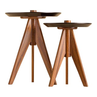 Modern Ebb and Flow Elle Accent Tables - Set of 2 For Sale