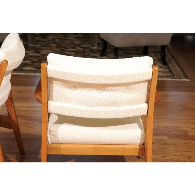 Restored Pair of Maple Loungers by Jens Risom For Sale - Image 9 of 10