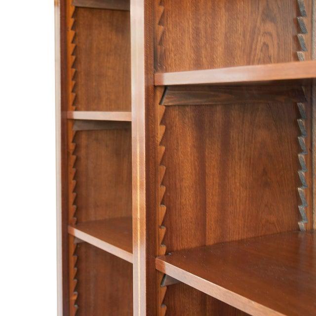 English English Satinwood Inlaid Mahogany Triple Bookcase For Sale - Image 3 of 5