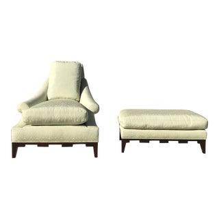 Modern Thomas Pheasant for Baker Castle Lounge Chair & Ottoman For Sale