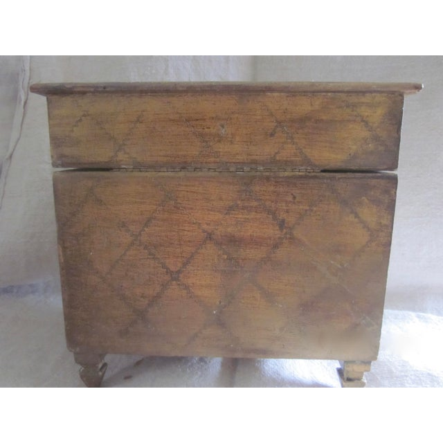 Vintage Florentine Miniature Storage Chest For Sale In Rochester - Image 6 of 9