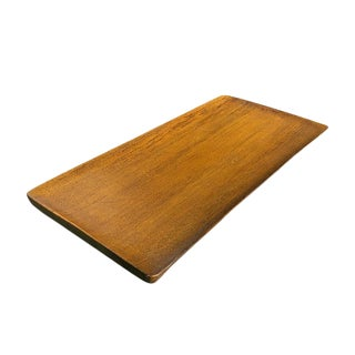 Mid Century Modern Handmade Wood Tray by David Auld Made in Haiti 1970s For Sale