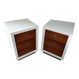 Paul Frankl for Brown Saltman Refinished and Lacquered Nightstands For Sale