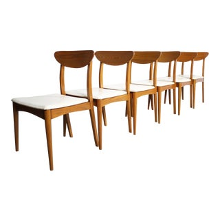"""1960s Vintage Heywood Wakefield """"Topaz"""" Chairs- Set of 6 For Sale"""