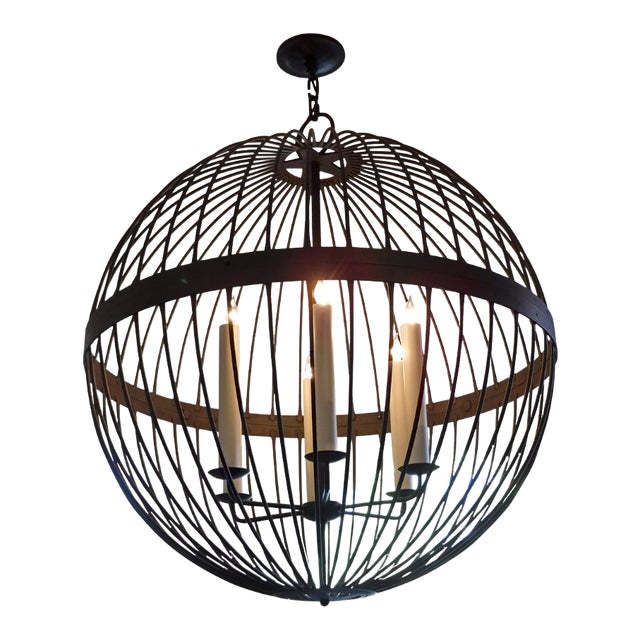 Contemporary Paul Ferrante Large Chandelier For Sale