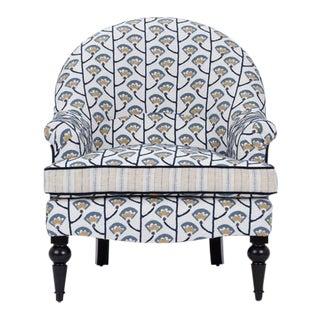 Kim Salmela Blue/Ivory Tatum Accent Chair For Sale