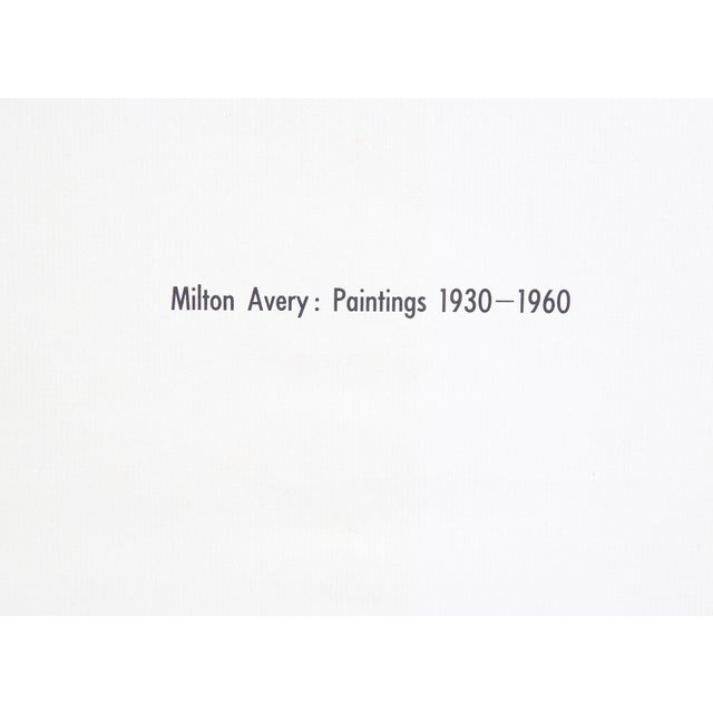 Milton Avery: Paintings 1930-1960 by Hilton Kramer. New York: Thomas Yoseloff, 1962. 126 pages. Hardcover with dust jacket.