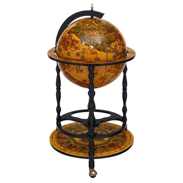 Italian Vintage Globe Bar Cart For Sale