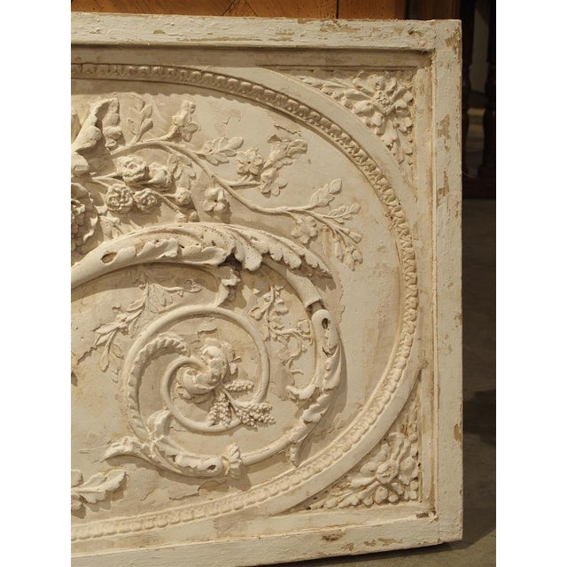 Architectural Plaster and Wood Overdoor Panel From Provence, France For Sale In Dallas - Image 6 of 9