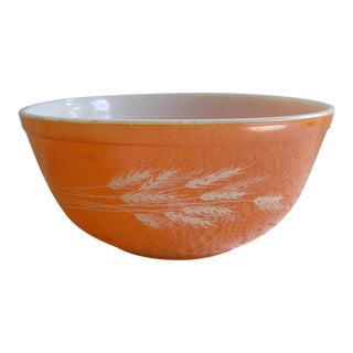 Pyrex Autumn Harvest Pattern Glass Serving Bowl For Sale
