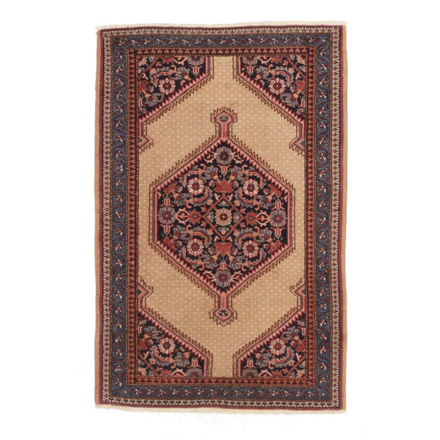 "Vintage Turkish Sivas Hand Knotted Wool Rug- 4' x 6' 4"" - Image 1 of 2"