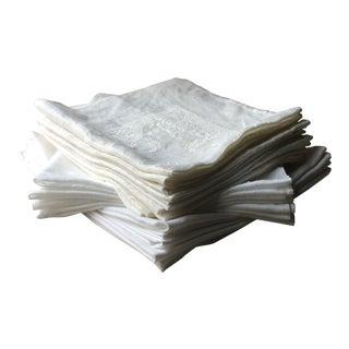 Vintage Linen Napkins - Set of 20 For Sale