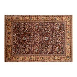 "Vintage Indian Bijar Design Carpet - 9'11"" X 14'1"" For Sale"