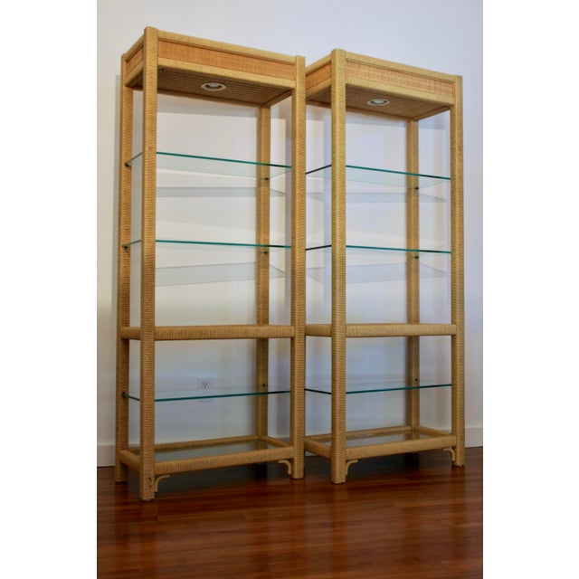 1970s Gabriella Crespi - Style Etageres, a Pair For Sale - Image 5 of 13