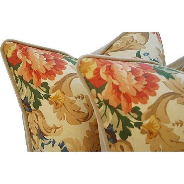 Designer Italian Linen & Velvet Pillows - A Pair - Image 4 of 7