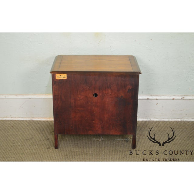 1960s Kindel Beauclair French Louis XV Style Vintage Fruitwood Nightstand For Sale - Image 5 of 13