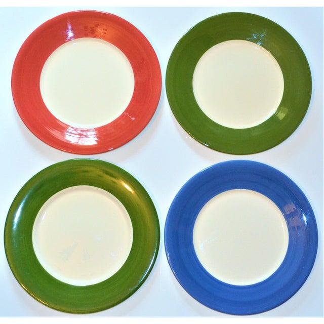 Gien Vintage French Gien Chop House Charger Plates - Set of 4 For Sale - Image 4 of 7