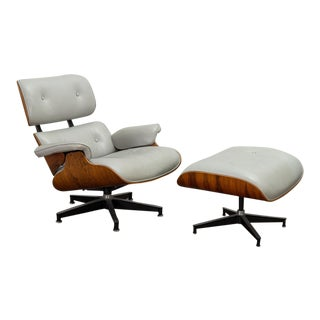 1970s Vintage Eames 670 Lounge Chair and 671 Ottoman For Sale