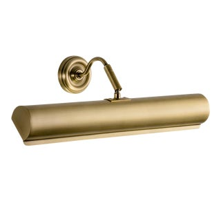 English Brass Classic Picture Wall Light For Sale
