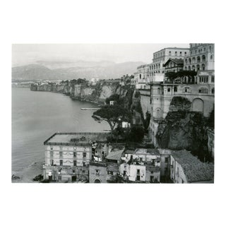 Vintage 1950's View of Sorrento Italy & the Sea Cliffs Photograph For Sale