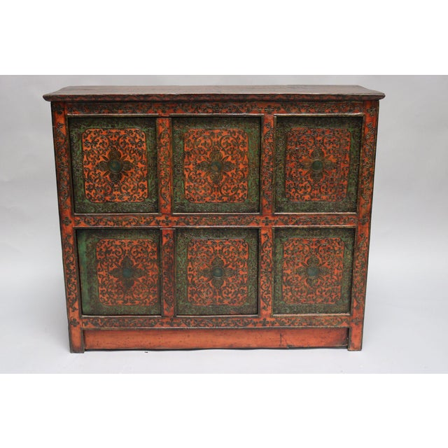 1920s Tibetan Wooden Chest For Sale In Los Angeles - Image 6 of 6