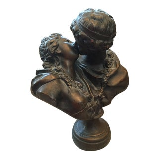 Mid-Century Hollywood Regency Figural Bust Sculpture For Sale