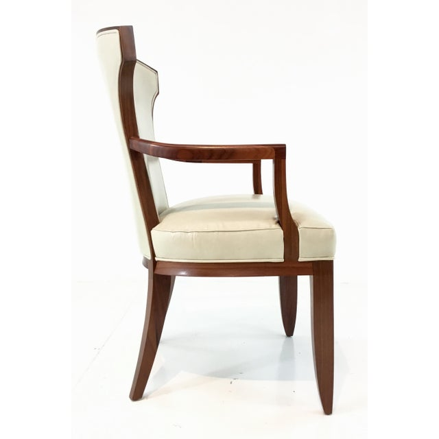 Barbara Barry for Henredon Elegance Leather Arm Chairs ...