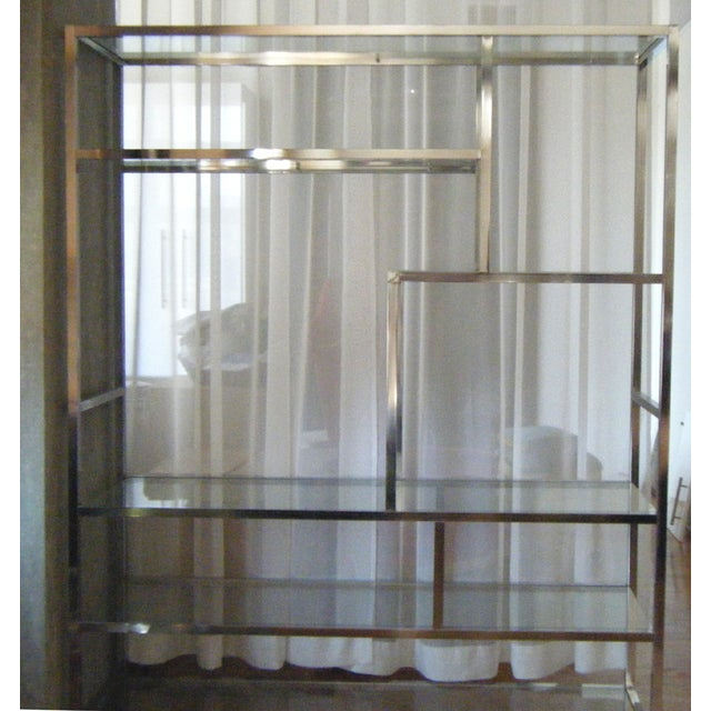 Milo Baughman Dia Chrome Glass Etagere - Image 3 of 5