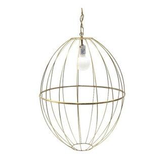 Vintage Gold Wire Birdcage Pendant For Sale