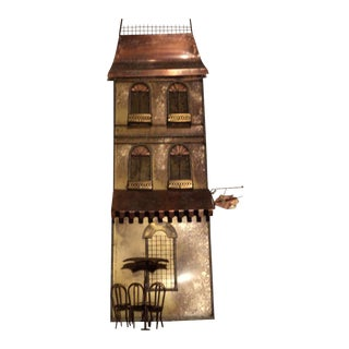 Curtis Jere Wall Sculpture of Parisian House For Sale