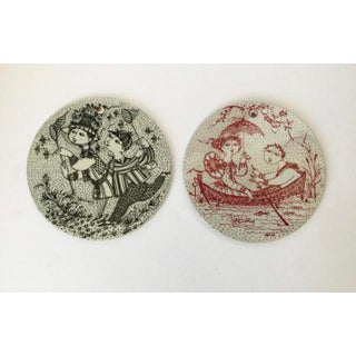 Mid-Century Modern Bjorn Wiinblad Hanging Plates - a Pair Preview