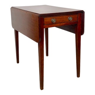 Early 19th Century Georgian English Mahogany Pembroke Table For Sale