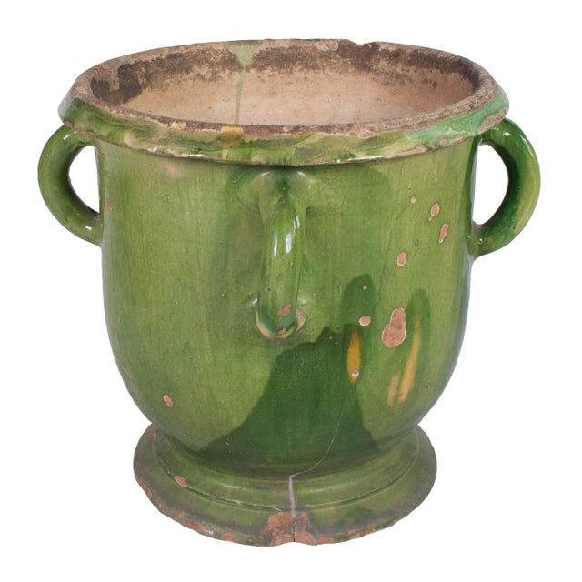 Early 20th Century Toulouse Green Provencal Pot For Sale - Image 5 of 5