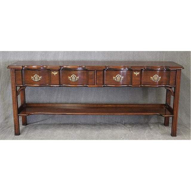 Cherrywood & Brass Two-Tier Sofa Table - Image 2 of 7