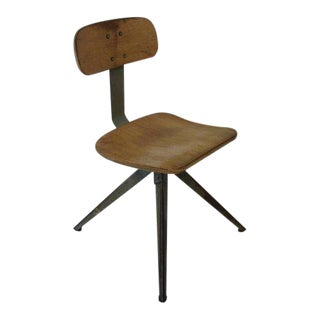Splayed Leg Industrial Desk Chair in the Style of Prouve or Olsen For Sale