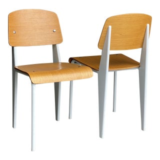 Vintage Jean Prouve' for Vitra Standard Style Chairs - a Pair For Sale