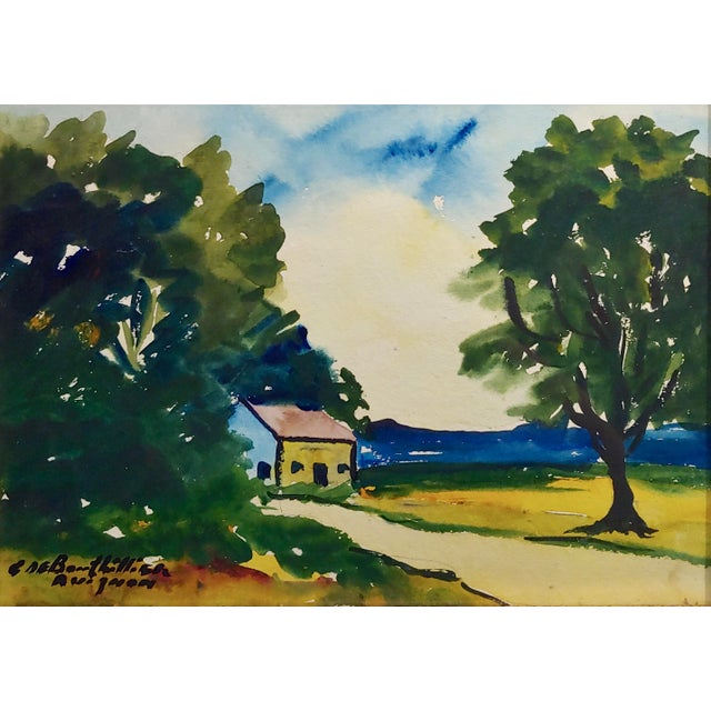 Country Guy De Bouthillier -Country Coast Line Landscape - Impressionist -Painting For Sale - Image 3 of 8